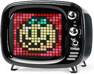 Divoom Tivoo ポータブルBluetoothスピーカー スマートアラーム/かわいいピクセルアート/ディスプレイ付き/DSPプロセッサ/TFカード対応/多機能 (ブラック)