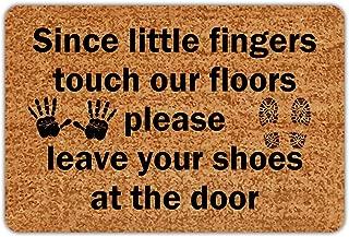 Remove Shoes Eanpet Front Door Mat Funny Doormat Welcome Mats 2x3 FT Outdoor Indoor Entrance Doormat Rubber Thin Non Slip Rug Outside Waterproof Shoes Scraper Area Rug for Home Decor Bedroom Garden