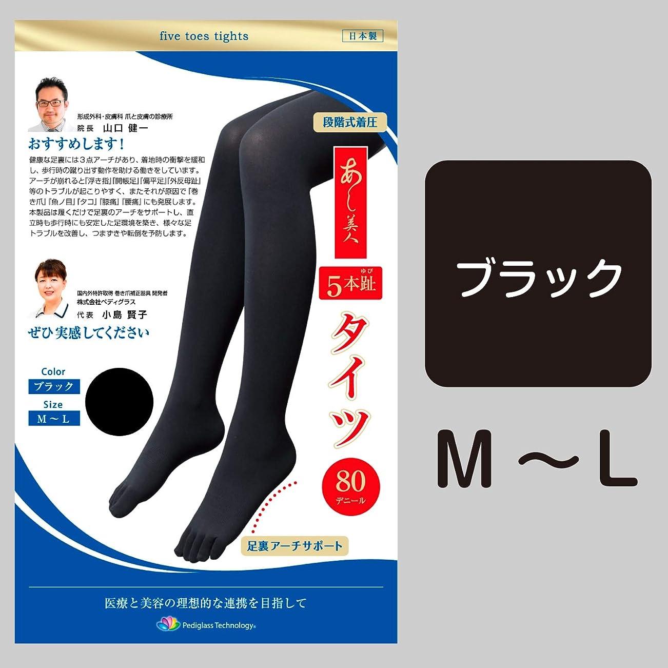平凡判定アトミックあし美人 5本ゆび タイツ (M-L)