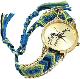 PULABO - Pulabo - Reloj de pulsera para mujer, diseño de jirafa, 9, duradero y útil