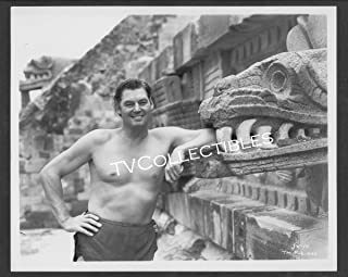 8x10 Photo~ Tarzan Movies ~Johnny Weissmuller ~Candid on The Set