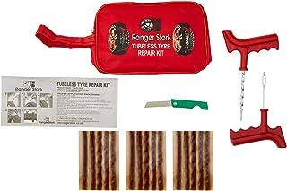 Ranger Stork Tubeless Tire Repair Kit Set Tool Bag for Motorcycles & Atvs, Lawn Mower, Truck, RV, Tractor Flat Tire Plug K...