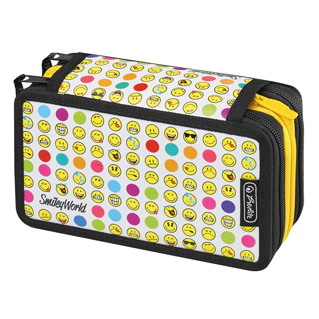 Herlitz Pencil Case, Smiley World Rainbow Faces (Multicolour) - 50015412