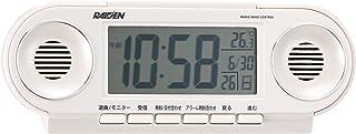 セイコー クロック 目覚まし時計 電波 デジタル 大音量 PYXIS ピクシス RAIDEN ライデン 白 パール NR531W SEIKO