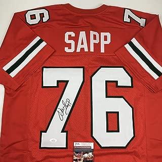 Autographed/Signed Warren Sapp Miami Orange Football Jersey JSA COA