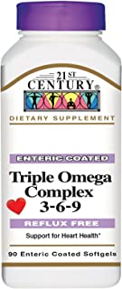21st CENTURY Omega 3-6-9 Complex ENTERIC Coated 90 Softgels