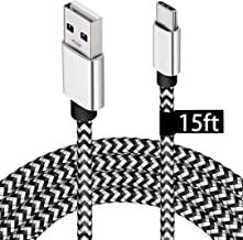 USB Type C Charger Cable,15FT Long USB C Cable for Google Pixel 4 XL,Samsung S10 S9 Plus S8, Galaxy Note 10, LG V30, DEEGO...