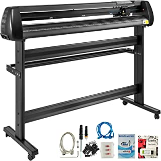 VEVOR Vinyl Cutter 53Inch Vinyl Cutter Machine Manual Vinyl Printer Plotter Cutter with Floor Stand Vinyl Plotter Adjustable Force Speed for Sign Making