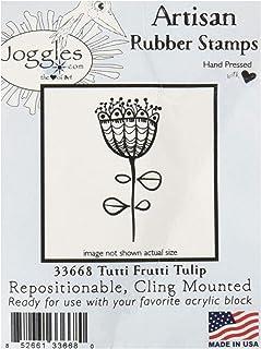 """Joggles 40-33668 Cling Stamp, 1.25"""" x 2.5"""", Tutti Frutti Tulip, Blue"""