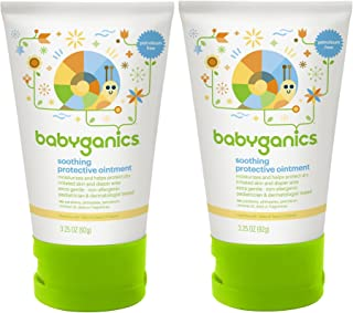 Babyganics Non-Petroleum Ointment Tube, 3.25 Ounce, 2 Pack