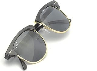 Polarized Half Frame Sunglasses - Clubmaster Style - Cool, Comfortable California Shades