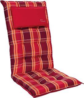 Homeoutfit24 Sylt - Coussin de Chaise de Jardin, Fabrique en Europe, Résistant aux UV, Coussin de tête Amovible, 1 pièce -...