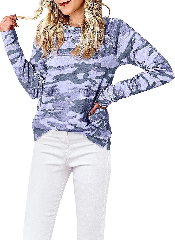 Lovezesent Women's Tie Dye Long Sleeve Pullover Hooded Sweatshirt with Pocket