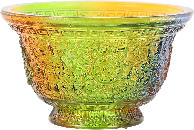 Hemoton Glass Offering Discount mail order Cup Tibetan Bowl Omaha Mall Buddhist Water