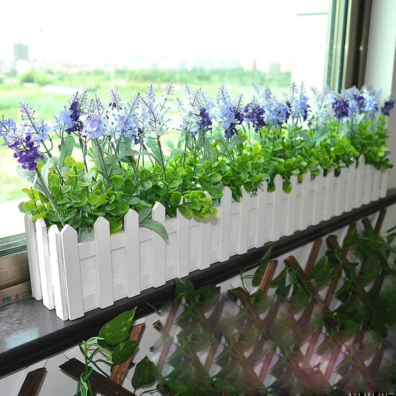 Wooden Flower Planter Fence Storage Holder Pot with Foam Garden