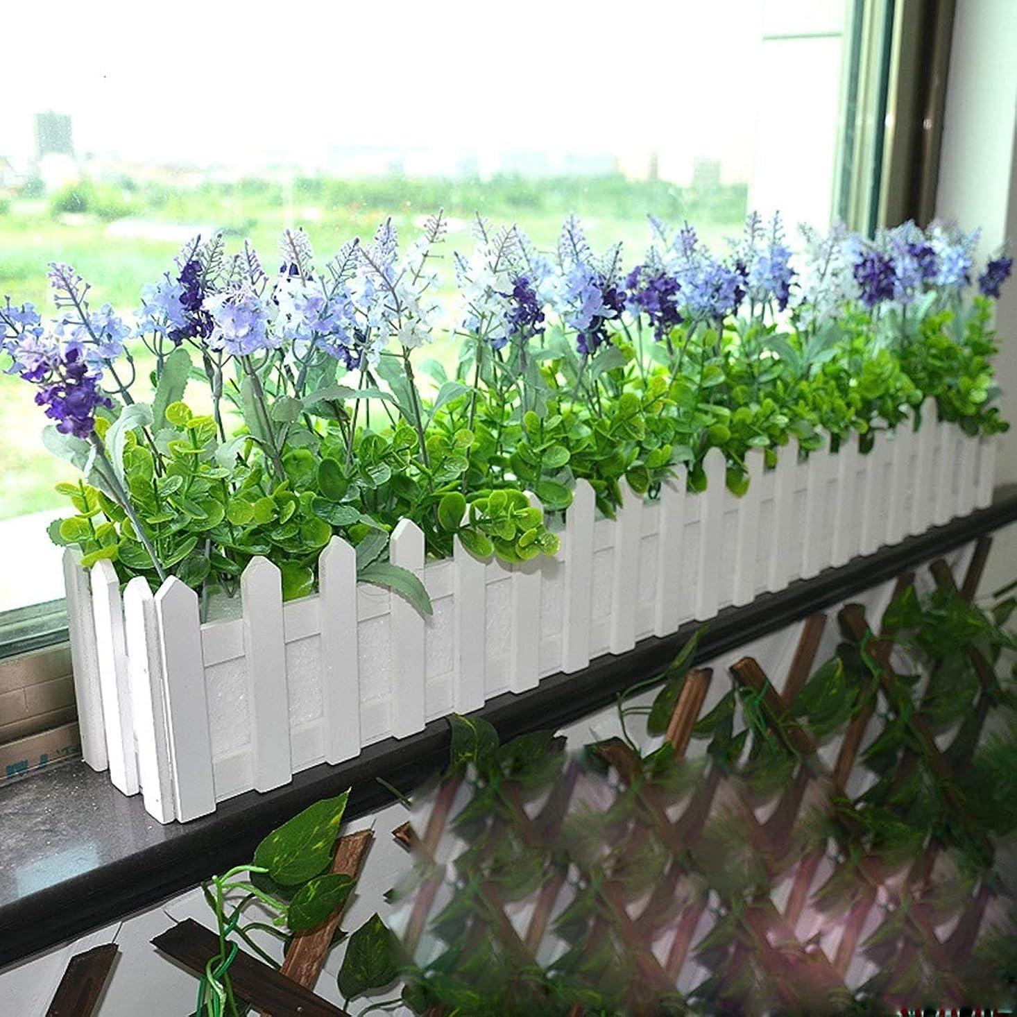 木製花プランター フェンス 収納ホルダーポット フォーム付き,
