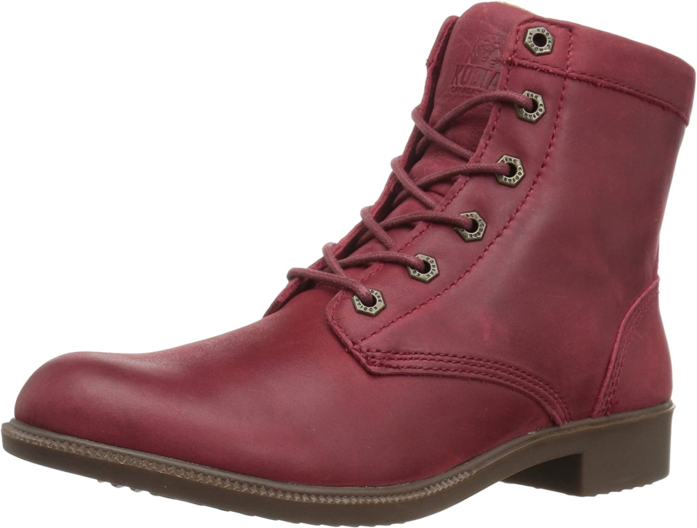 Kodiak Original Women's Waterproof Leather Ankle Winter Boot Red Size 7