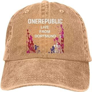 GEORGE MANNING OneRepublic Live from Dortmund Adjustable Camper Cotton Washed Denim Hat Black