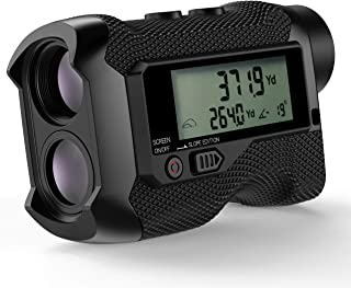 Golf Rangefinder, ACPOTEL 750 Yards Laser Rangefinder with External LCD Display Screen, Slope Adjustment (Angle Switch), Point-to-Point Ranging Function, Flag-Lock and Pulse Vibration, Lithium Battery