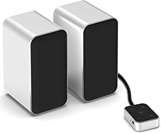 KEiiD PCスピーカー ステレオ タッチコントローラ付き、パソコンスピーカーBluetooth5.0内蔵 音楽ワイヤレス再生可能、アルミ合金ケーシング 、3つのEQオプション: 音楽、映画、ゲーム 各種ノートブック・デスクトップパソコン対応...