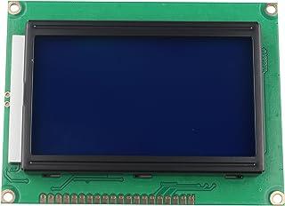 HALJIA 5 V módulo de Pantalla LCD 12864 128 x 64 Puntos Gráfico Matriz de Personajes Carta retroiluminación Azul Compatibl...