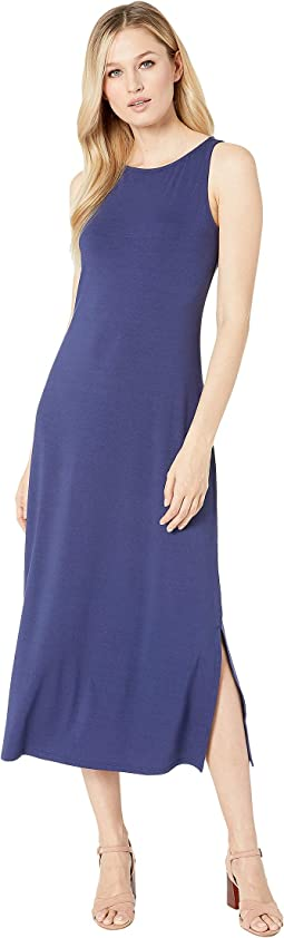 Tambour Sleeveless Midi Dress
