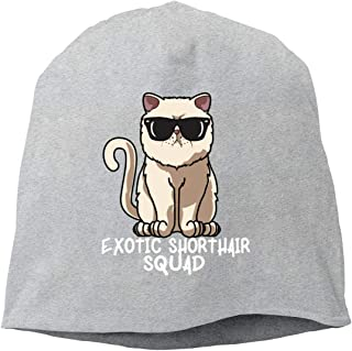 Jusxout Exotic Shorthair Squad Beanie Hat Skull Cap for Women