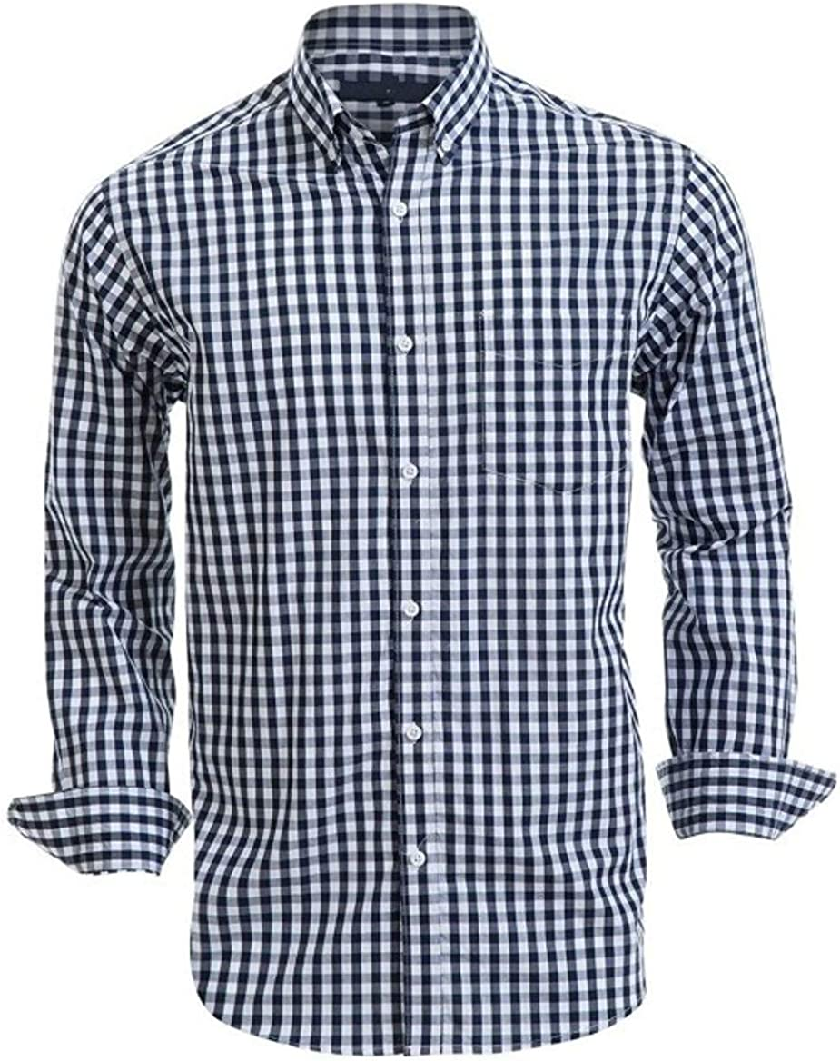 Croft & Barrow Mens Classic Fit Casual Button Down Long Sleeve Shirt Navy Gingham