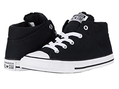 Converse Kids Chuck Taylor All Star Madison Mid (Little Kid) (Black/Black/White) Girl