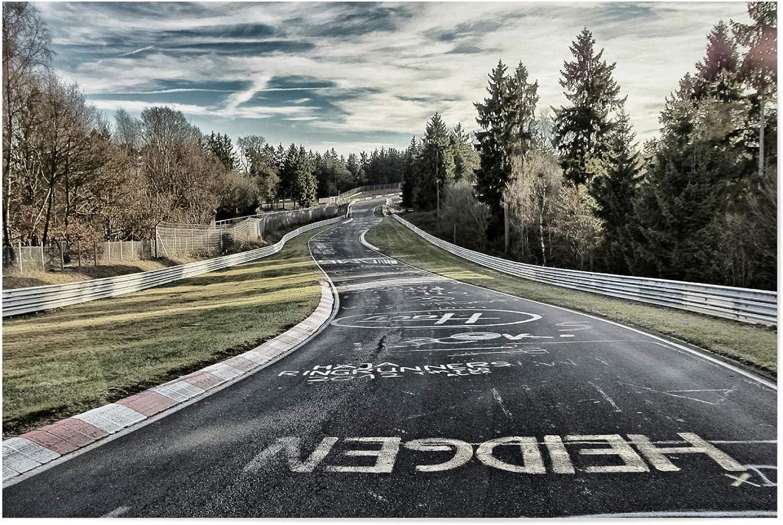 ArtboxONE Poster 120x80 cm Sport Motorsport Fahrbahn in Kreide - Bild Nordschleife Nürburgring Grüne Hlle