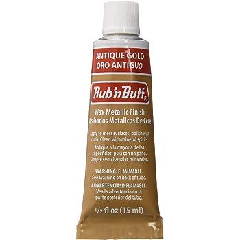 AMACO Rub 'n Buff Wax Metallic Finish, Antique Gold, 0.5-Fluid Ounce