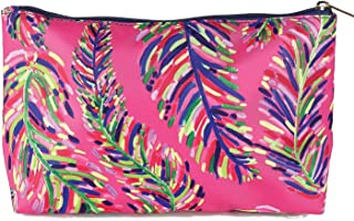 Mary Square Pink Frond Swim Bag