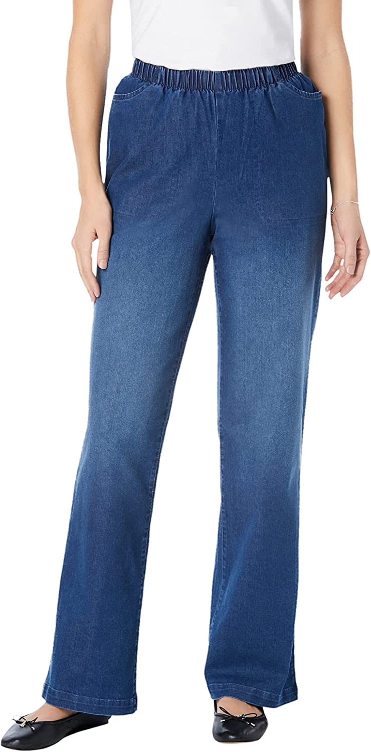Woman Within Women's Plus Size Fineline Max 61% OFF Wide Max 67% OFF Jean Leg