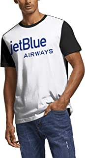OPNXVNCGBXGF T-Shirts Adult JetBlueAirline-Symbol-Logo Alkaline Round Neck Breathable Patriotic