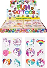 Henbrandt 24 x Girls UNICORN Temporary Tattoos Children's Birthday Party Bag Filler
