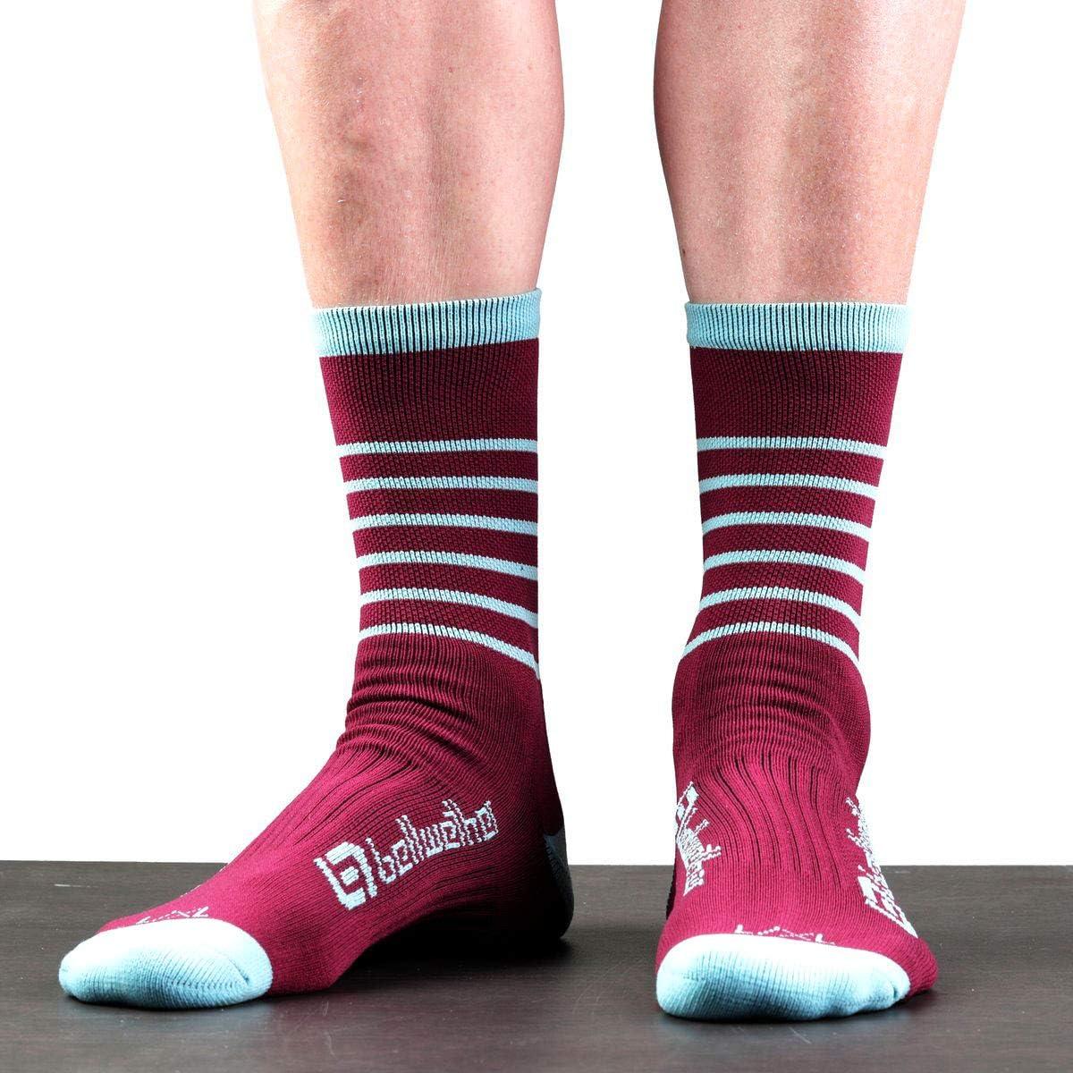 Bellwether Blitz Cycling Socks - Burgundy/Ice - 97440376
