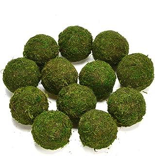Byher Decorative Ball Natural Green Moss Handmade (3.5