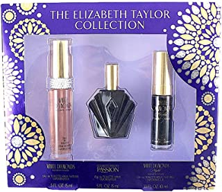 Elizabeth Taylor White Diamonds + Passion + White Diamonds Night 15 ml Each (Pack of 3)