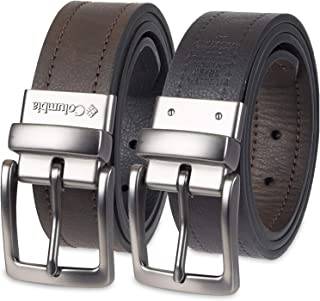 Reversible Leather Belt - Casual for Men's Jeans with...