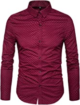 MUSE FATH Men's Printed Cotton Casual Long Sleeve Regular Fit Dress Shirt