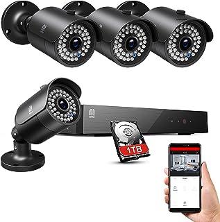MTM 5MP Kit Videosorveglianza esterno di Sicurezza DVR 1TB Disco Rigido 8 Canali 4 Telecamera Sorveglianza Esterno, 5MP 8CH Videosorveglianza H.265+, Motion Detection, P2P Cloud, 30M IR Night Vision