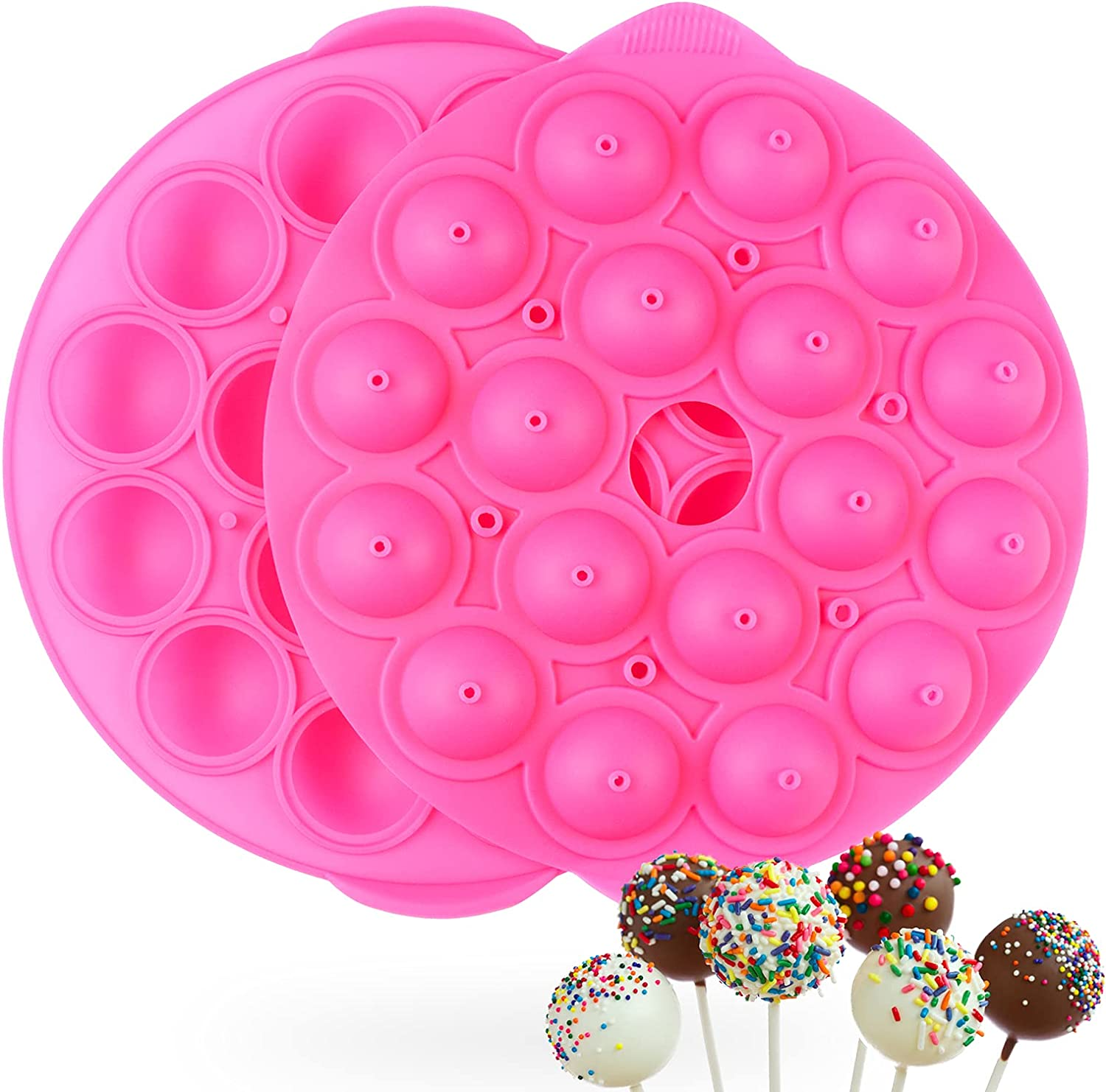 Silicone In stock Cake Pop Mold Popular brand - Cavities 18 Lollipop for
