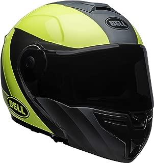 Bell SRT Modular Street Motorcycle Helmet(Presence Matte/Gloss Gray/Hi-Viz Yellow, X-Large)