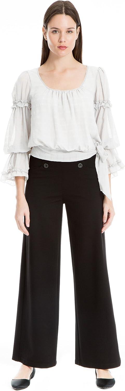 Max Studio London Womens PonteKnit High Rise Sailor Pants Black XS