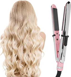2 in 1 Hair Straightener Curling Iron, Hair Styling Hair Curlers, Hair Styling Tool Perming Curling Rods Professional Salo...