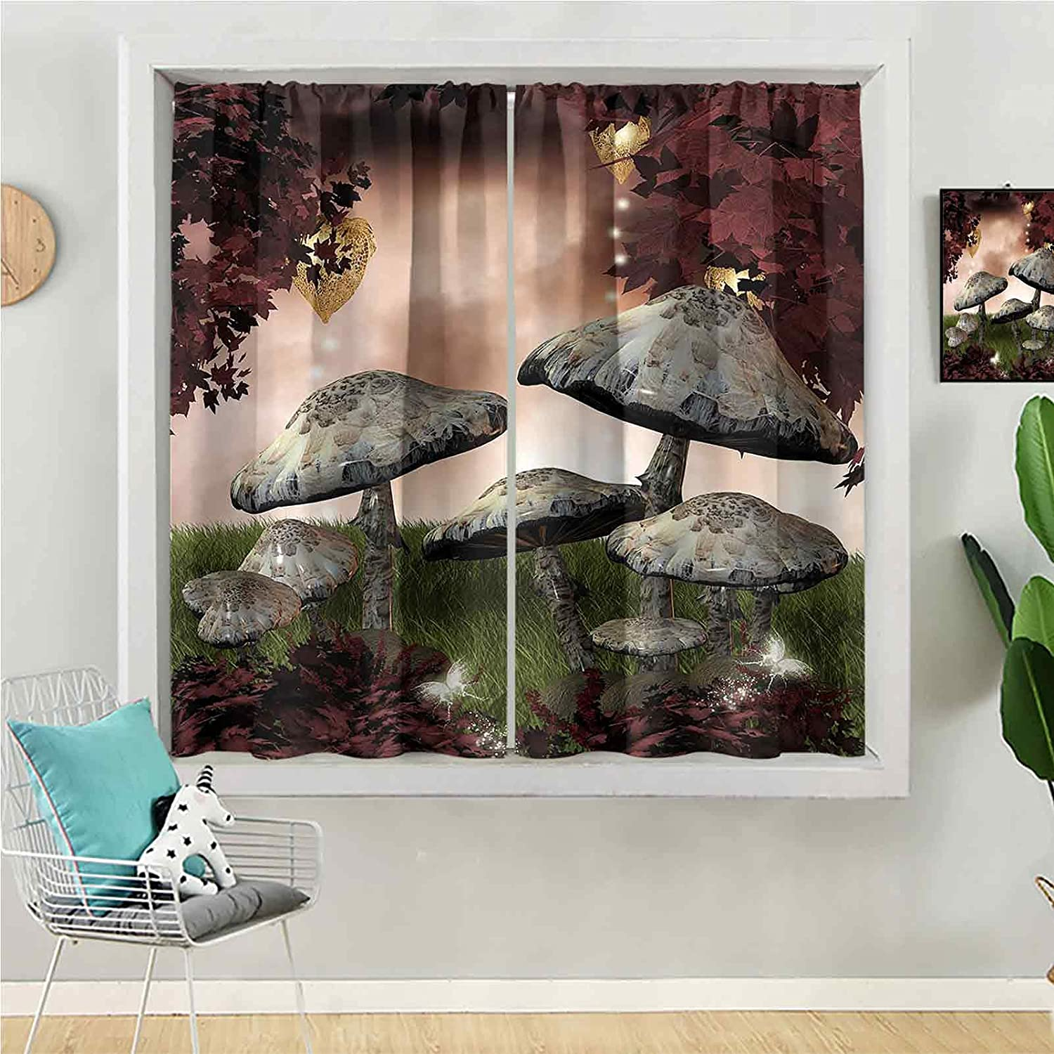 Blackout Curtain 72 inches Long Max 61% OFF Window Be for Panel Kids Reservation