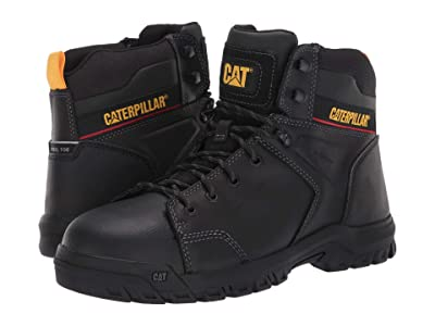 Caterpillar Wellspring Waterproof Metatarsal Guard Steel Toe (Black Full Grain Leather) Men