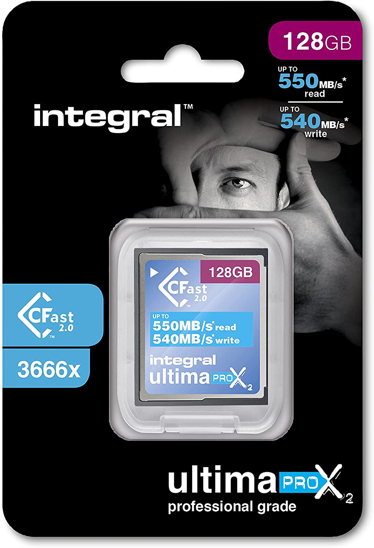 Integral 128GB Ultimapro X2 CFast 2.0 3666x Memory Card