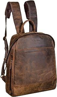 """STILORD Marco"""" Uni Rucksack Leder Vintage Daypack groß für Herren Damen DIN A4 mit Laptop-Fach 13,3 Zoll ideal für Schule Business Freizeit echtes Rindsleder, Farbe:Colorado - braun"""