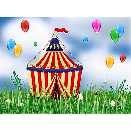 Leowefowa 6X6FT Cartoon Diosaur Backdrop Kids Happy Birthday Backdrops for Photography Banner Balloons Cake Smash Party Vinyl Photo Background Boys Birthday Dessert Table Wallpaper Studio Props